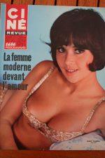 Magazine 1968 Dany Carrel Svetlana Mishoff Ernie Wise Joan Bennett Roger Moore