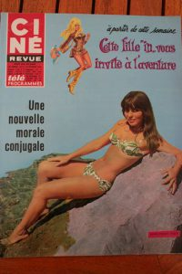 Magazine 1968 Sharon Tate Marie France Pisier Bourvil James Garner Liz Taylor