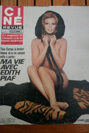 Magazine 1970 Claudie Lange Edith Piaf Claudia Cardinale Gene Barry Linda Scott