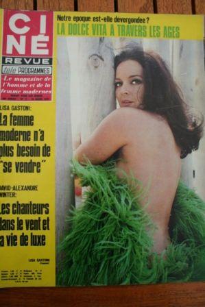 Magazine 1970 Lisa Gastoni Daliah Lavi Jane Birkin Alain Delon Jacqueline Bisset