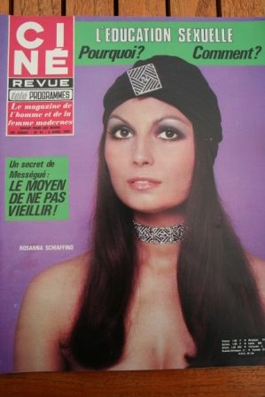 Magazine 1970 Rosanna Schiaffino Fellini Satyricon Kim Darby Mia Farrow