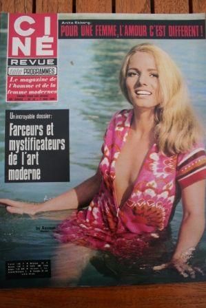Magazine 1970 Ini Assmann Florinda Bolkan Sharon Tate Alain Delon Anita Ekberg