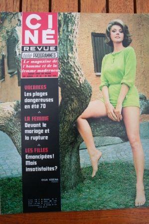 Magazine 1970 Sylva Koscina Michele Mercier Mylene Demongeot Jane Birkin