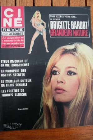 Magazine 1970 Brigitte Bardot Steve McQueen Claude Jade Anna Magnani
